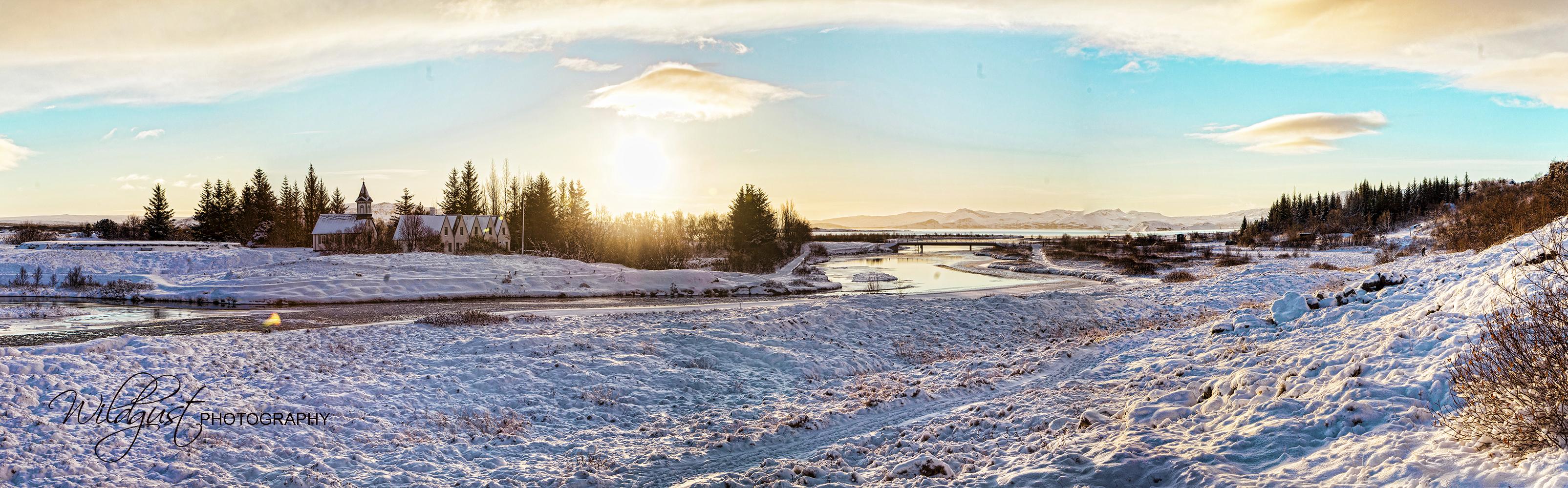 Panorama of Pingvellier National Park, Iceland