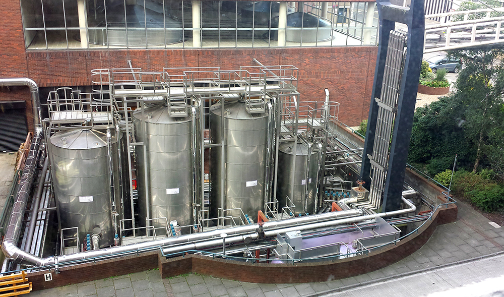 Guinness StoreHouse. Beer fermentation vats