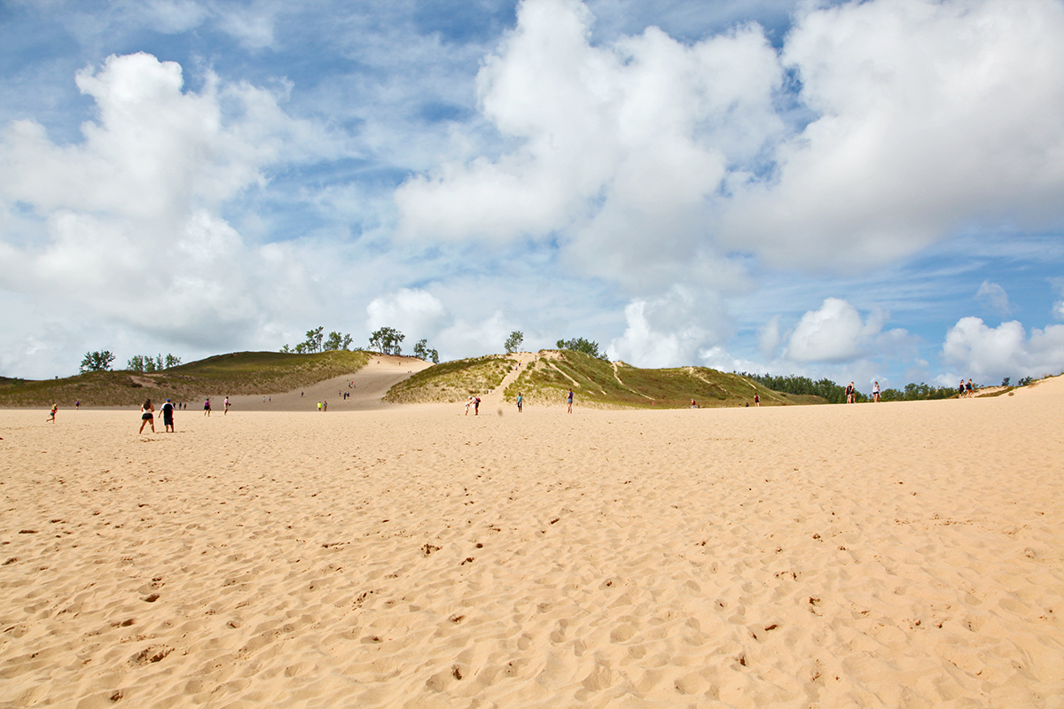 USA.Michigan. Sleeping bear National Park. sand.dunes.