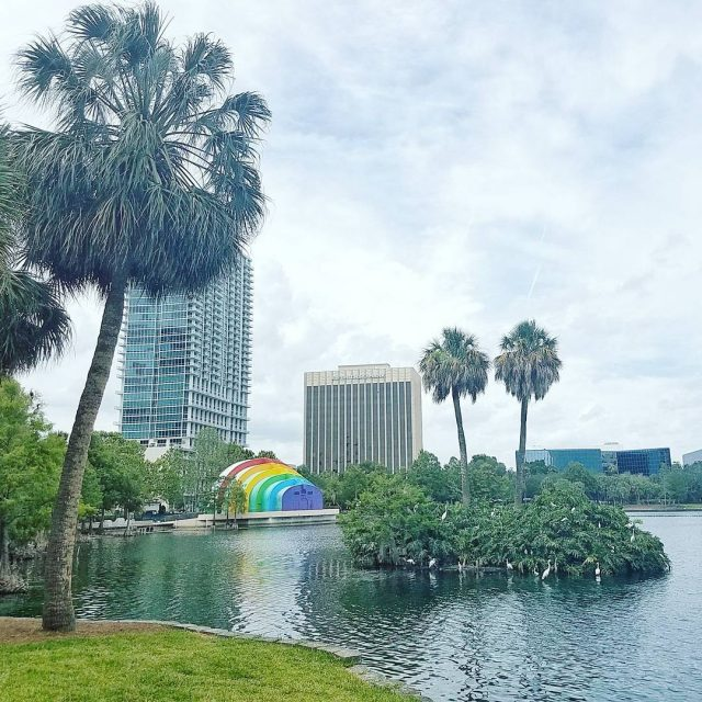 OrlandoUnitedDay This is Lake Eola You see the colorful amphitheaterhellip
