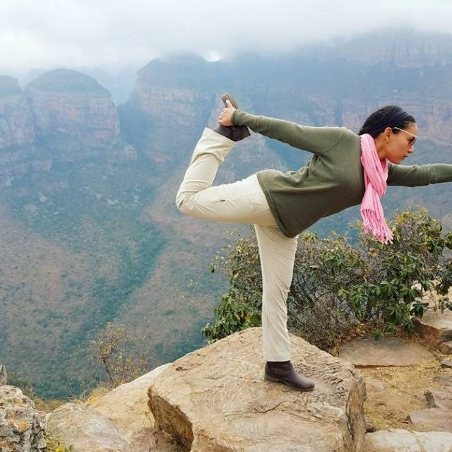 Getting my yoga done on the edge of Africaok maybehellip